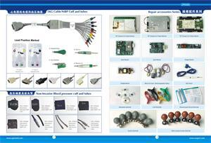 Nihon Kohden Defibrillator TEC-5200A ECG Cable with Lead Wires, 11 Pins