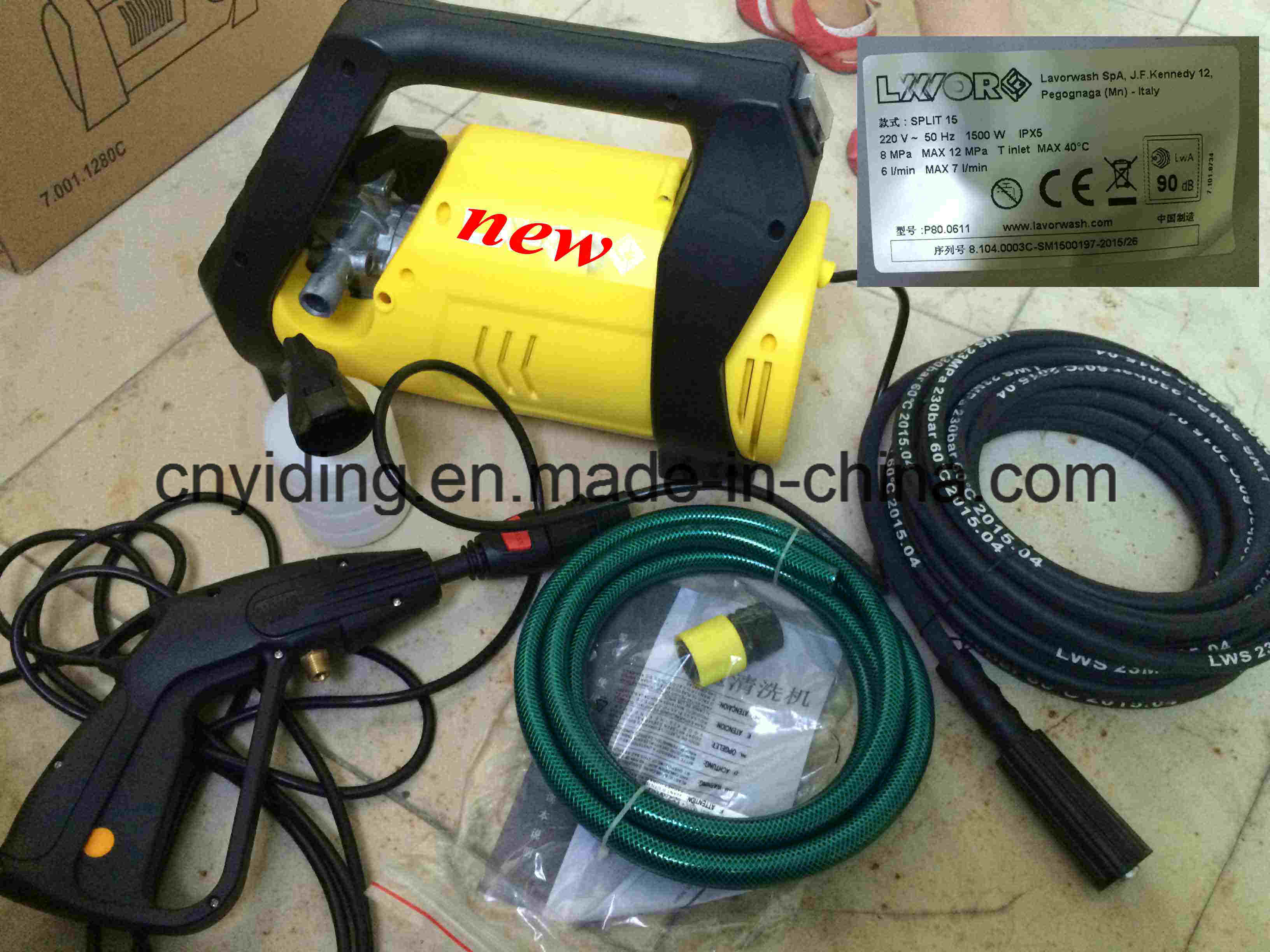120bar 7L/Min 1.5kw Electric Pressure Washer (HPW-DTE1207DC)