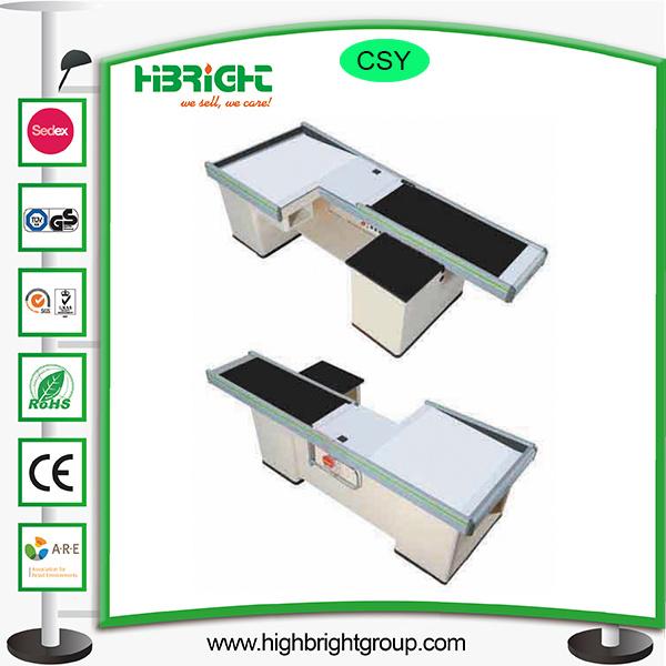 Supermarket Cashier Counter Table Desk with Belt