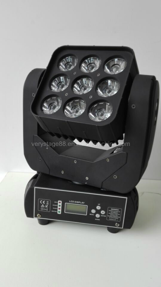 9 10W RGBW CREE LED Moving Head Beam Light
