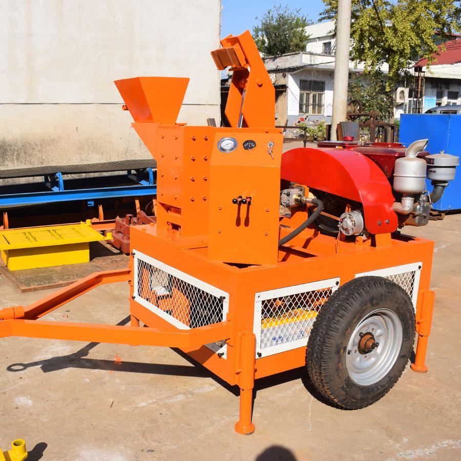 Sei1-20 Mobile Hydraulic Clay Interlocking Brick Machine
