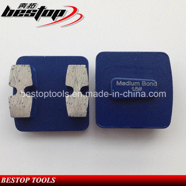 Metal Grinding Shoe Concrete Floor Trapezoid Diamond Grinding Plate
