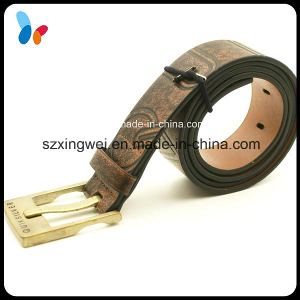 Retro Style PU Leather Belts with Gold Metal Buckle