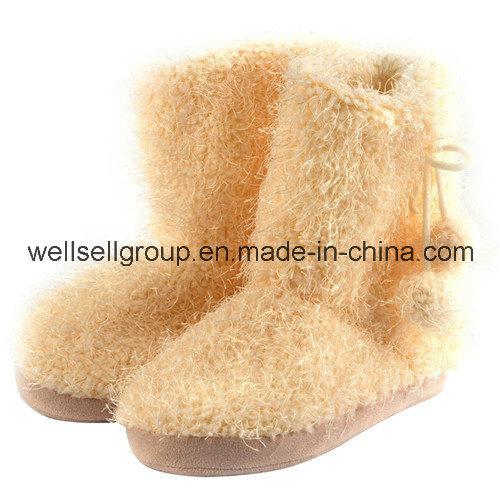 Women Winter Fur Long Snow Boots (CPS-072)