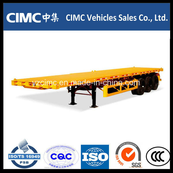 Cimc 3 Axle 40′ Flatbed Semi-Trailer