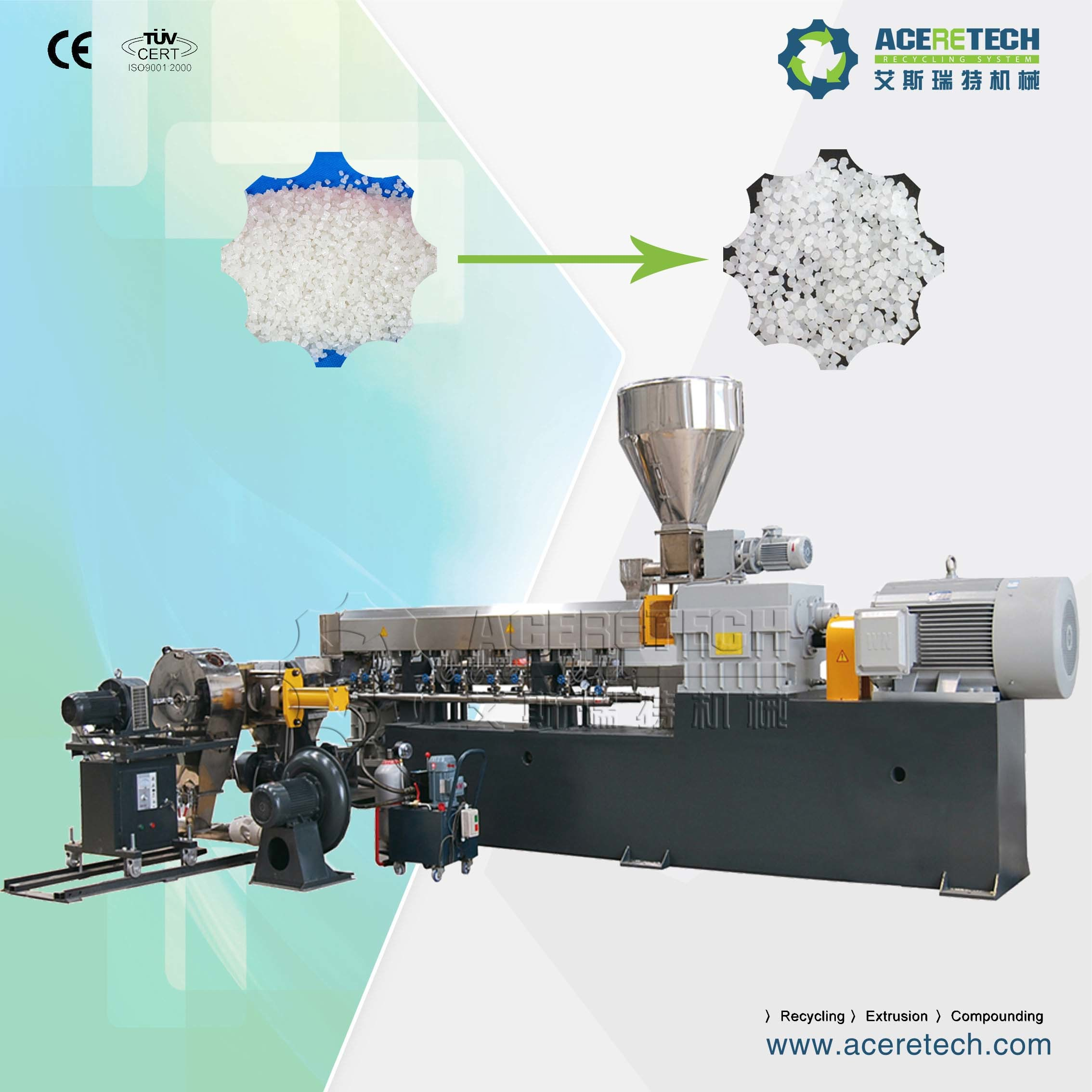 Two Stage Extrusion Machine for Silance Cross Link Cable Material Compounding