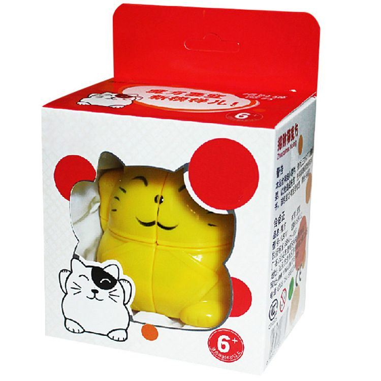 837002-Lucky Cat Cartoon Cube Simple Intelligent Toy Fun Gift