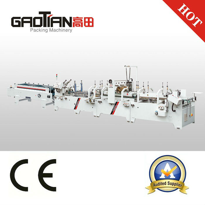 Gdhh Automatic Carton Box Folder Gluer Machine with Bottom Lock and Straight Line