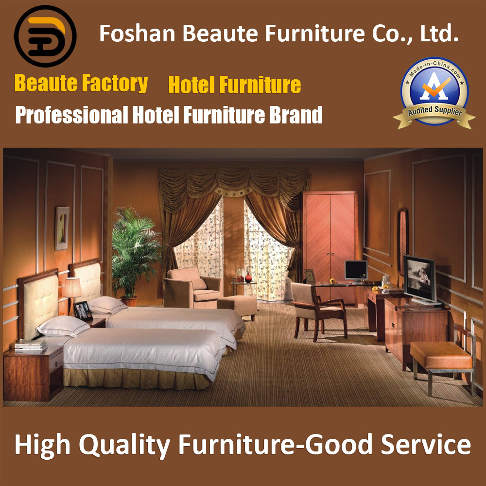 Hotel Furniture/Luxury Double Hotel Bedroom Furniture/Standard Hotel Double Bedroom Suite/Double Hospitality Guest Room Furniture (GLB-0109805)
