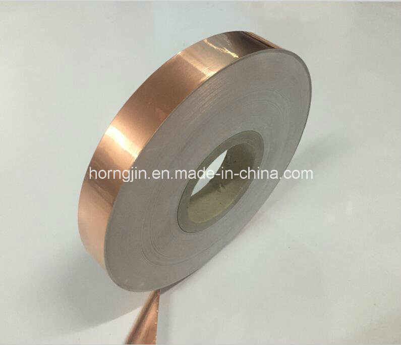 Electrical Conductive Copper Foil Laminated Coating Polyester Mylar Cu Pet Tape for Cable