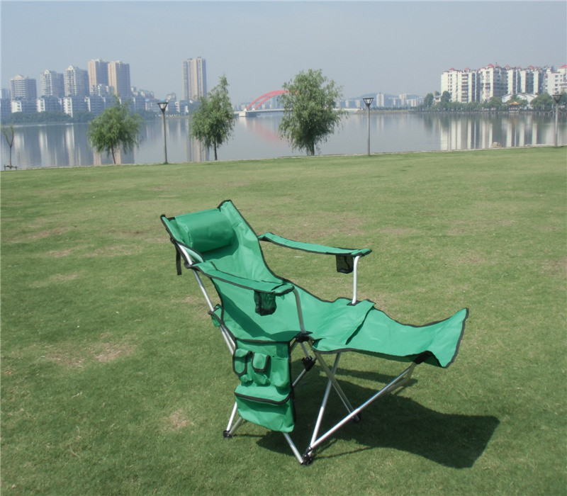 Outdoor Sporting Camping Beach Lightweight Folding Fishing Chair Furniture (with side pocket)