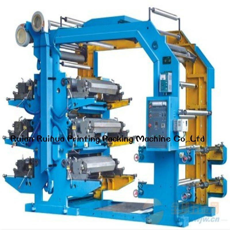 4-Color Flexographic Printing Presses PLC Computer