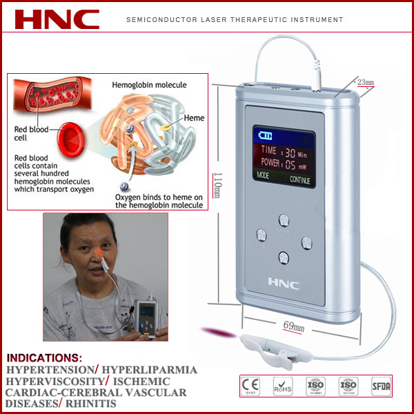 Hypertension Medical Therapy High Quality 650nm Cold Laser Therapeutic Device