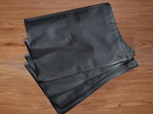 Black Embossed Vacuum Bag 3mil-5mil