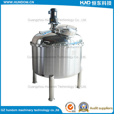 Sanitary Double Layer Jacketed Stainless Steel Liquid Juice Mixing Tank