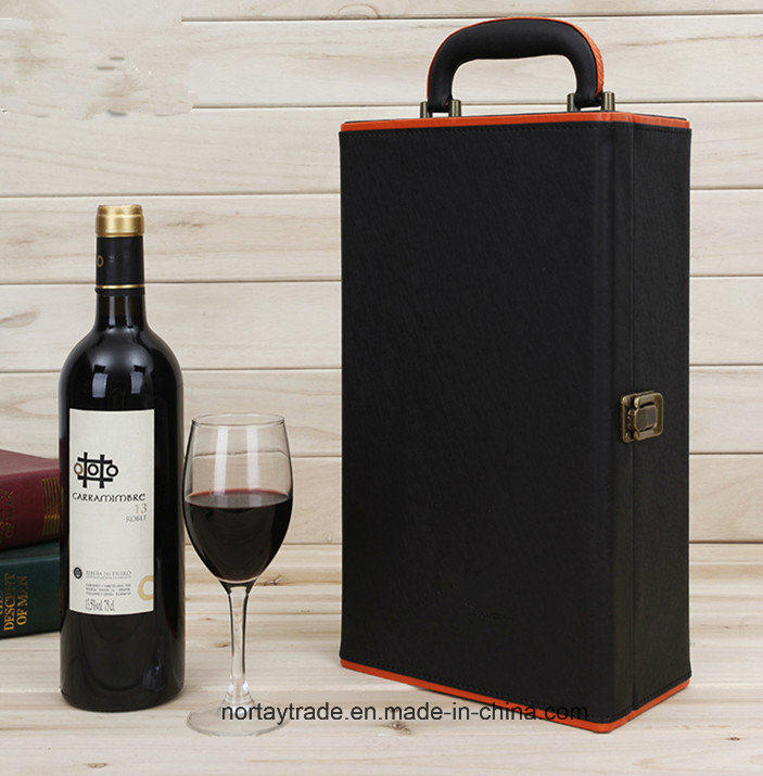 Artificial Leather Wine Box 1/2/4 Bottles with Factory Price