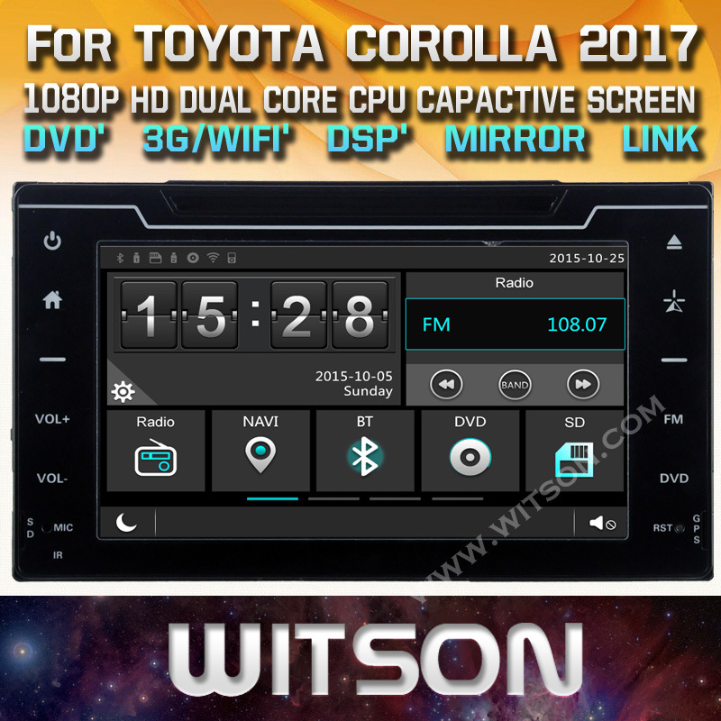 Witson Auto Navigation for Toyota Corolla/Auris 2017 (W2-E8160)