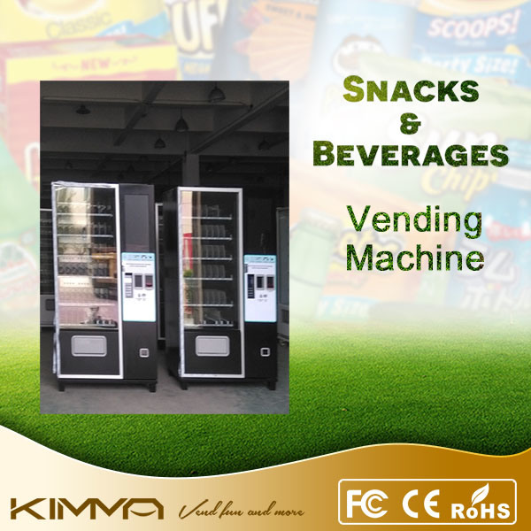 Combo Vending Machine for Popcorn and Chocolate Bar