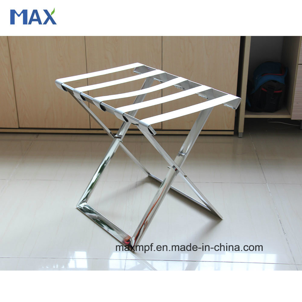 Customization Stainless Steel Folding Flat Tube Luggage Rack for Hotel