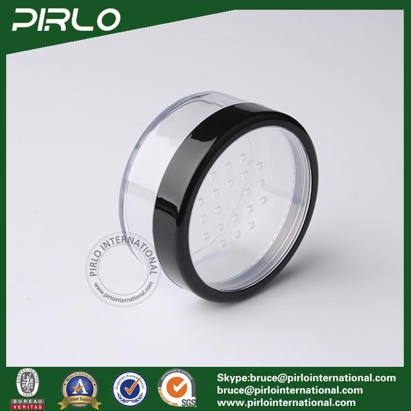 20g 30g Plastic Powder Jar with Sifter Cosmetic Loose Powder Jar