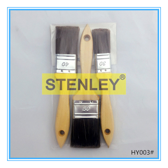 Set Brush Wooden Handle Paint Brush