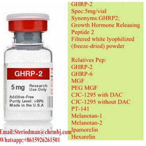 High Pruity Weight Loss Ghrp2/Ghrp-6 5mg/Vial Peptides Pharmaceutical Intermediate