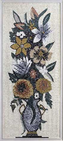 Flower Wall Pattern and Shearing Stone Mosaic