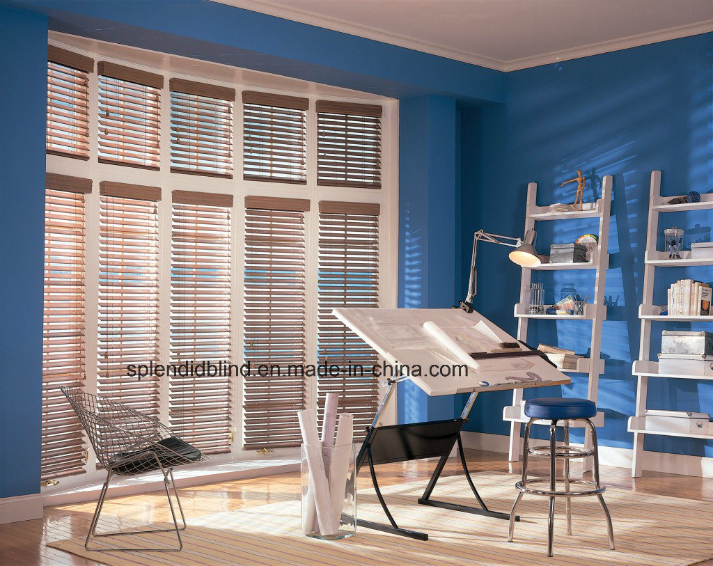 50mm High Quality Unique Wooden Office Venetian Blind (SGD-W-505)