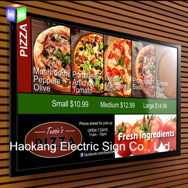 LED Aluminum Snap Picture Frame for Wall Menu Board Advertising Light Box