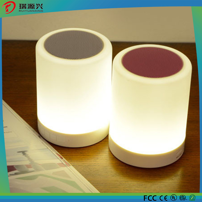 Portable LED Touch Sensor Table Lamp With Mini Bluetooth Speaker