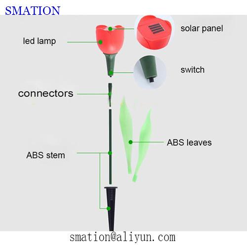 Solar Fancy LED Garden Christmas Flower Decorative String Stick Light