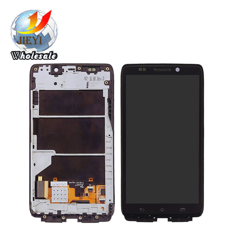Digitizer+ LCD Display Screen Assembly for Motorola Droid Ultra Xt1080 White