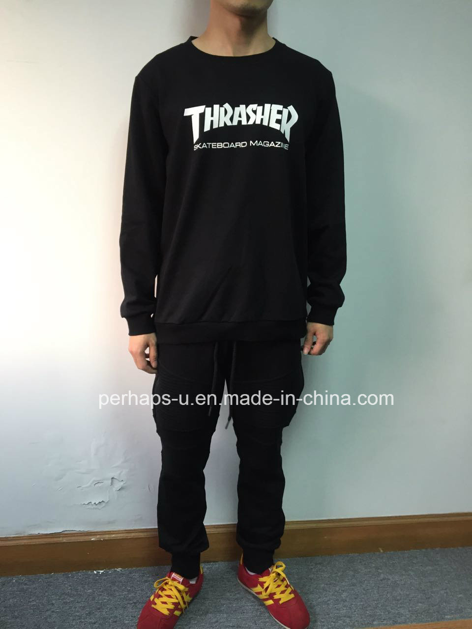 Good Quality Mens cotton Sweater with Custom Logo