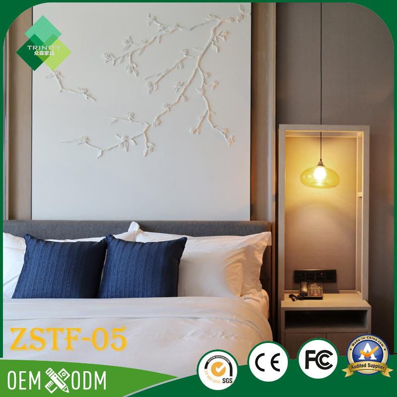 Elegant Chinese Style of Wood Hotel Bedroom Furniture Set (ZSTF-05)