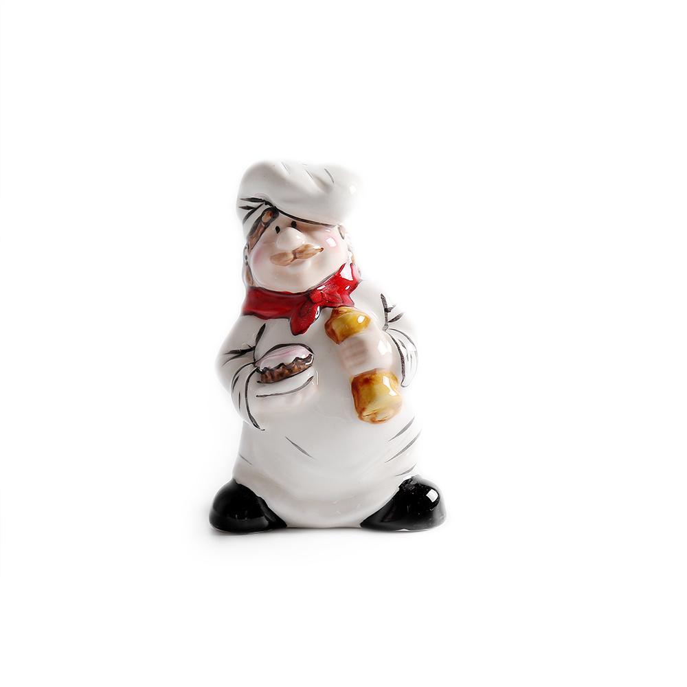 Wholesales Ceramic Cartoon Chef Salt Pepper and Shaker