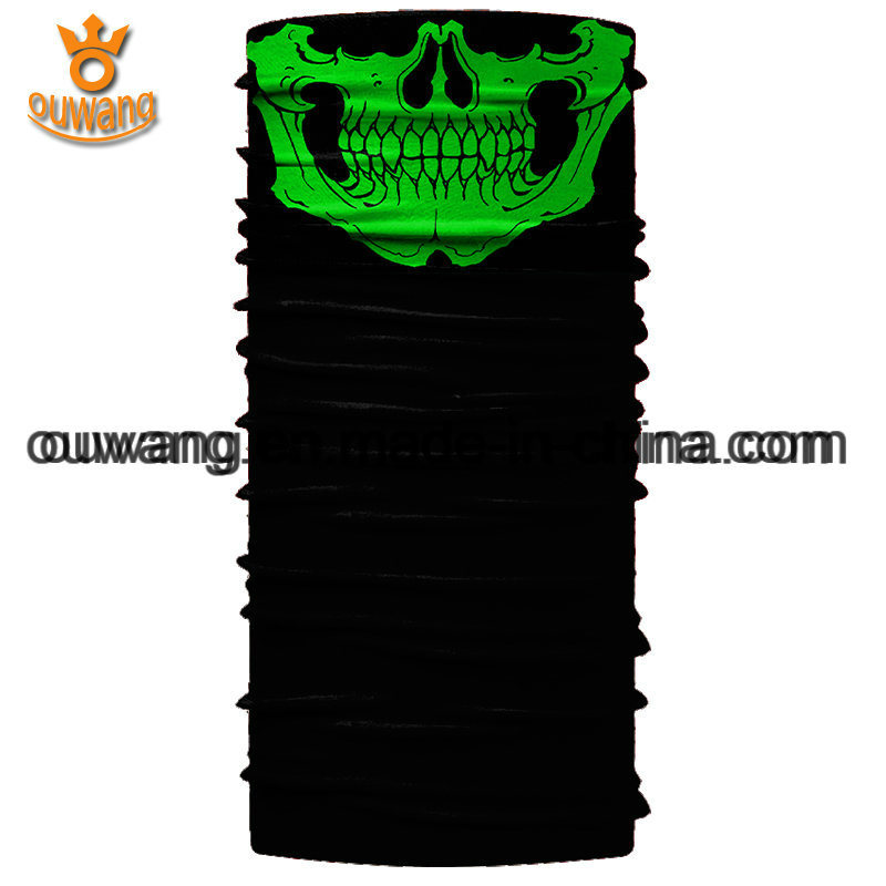 Design Your Own Magic Multifunctional Seamless Black Skull Sports Bandanas