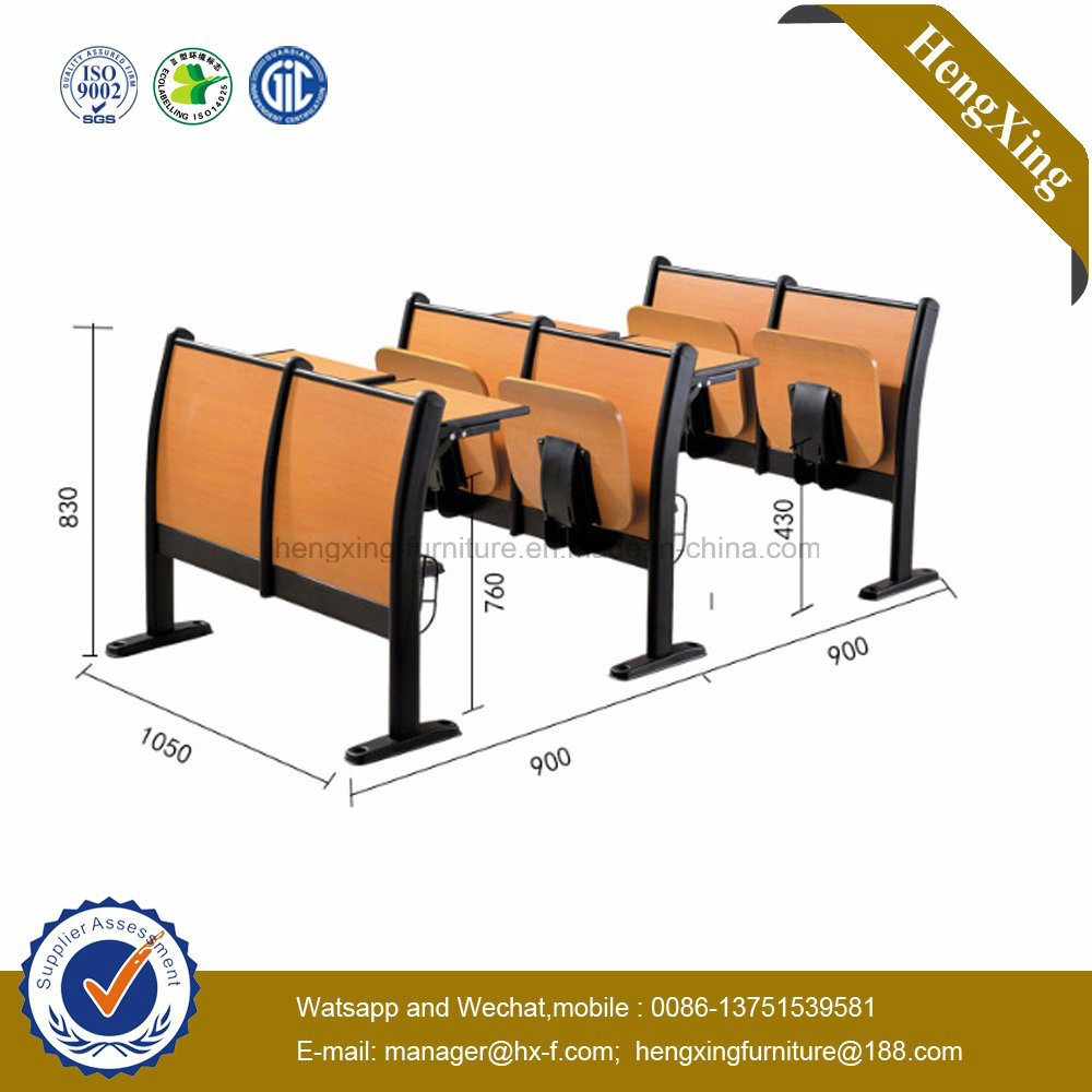 Folding School Desk and Chair Competitive Price School Furniture (HX-5D208)