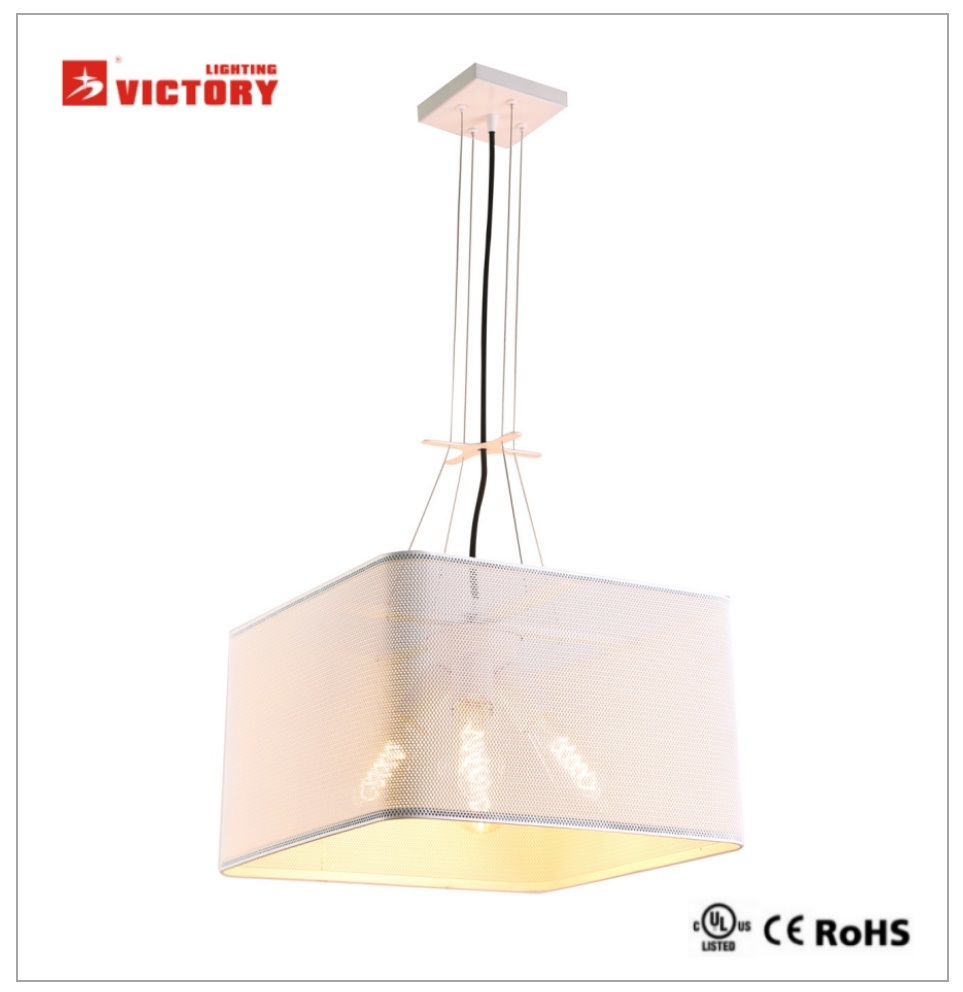 Modern Metal Chandelier LED Pendant Lamp for Hotel Restaurant