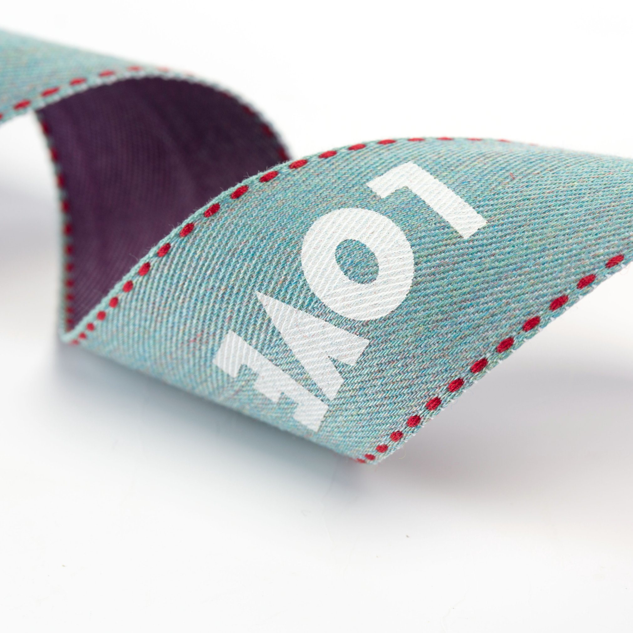 Three Colored Printed Ribbon for Garments and Bags