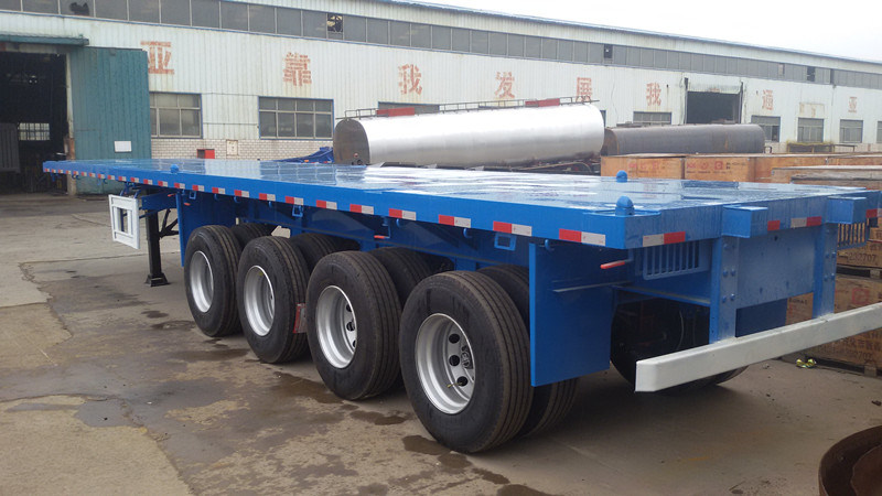 4 Axles 40 Feet Container Flat Bed Transport Semi Trailer