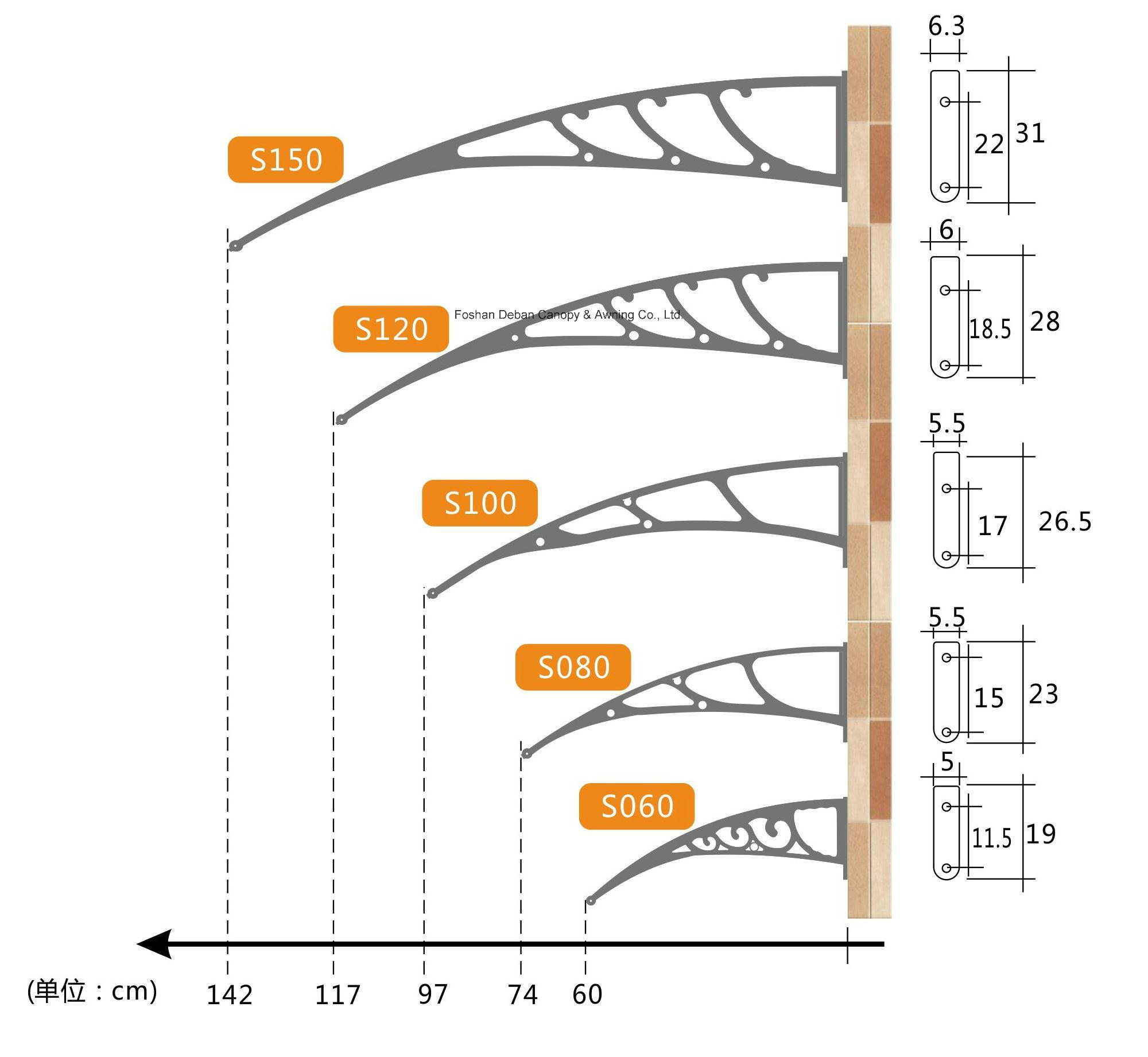 PC/DIY Awning for Doors and Windows /Sunshade