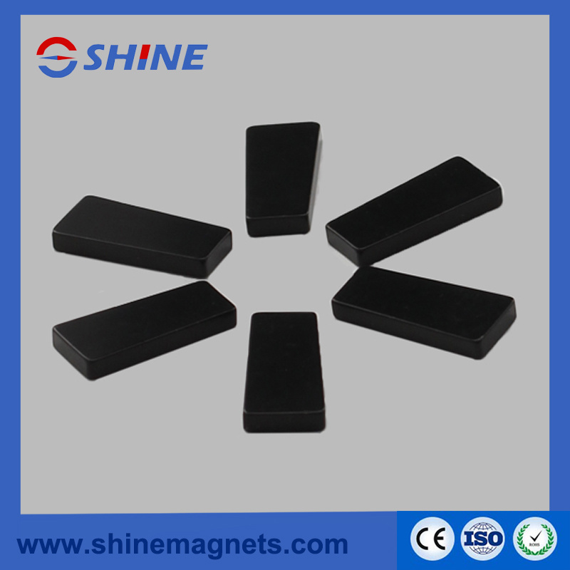 Black Epoxy Plated Sintered NdFeB Trapezoidal Magnet
