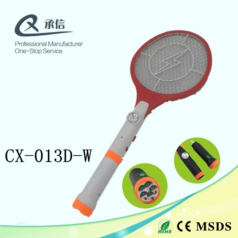 Good Qua Rechargeable Mosquito Killer Swatter Bat, Insect Bug Trap Zapper with LED Torch for Camp