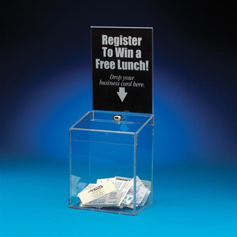 Customize Clear Acrylic Suggestion Box