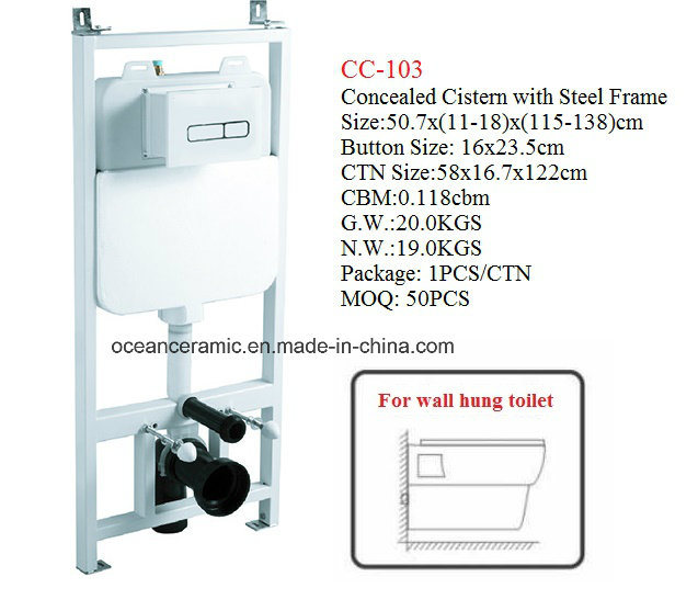 Cc-103 Concealed Cistern with Steel Frame for Wall Hung Toilet