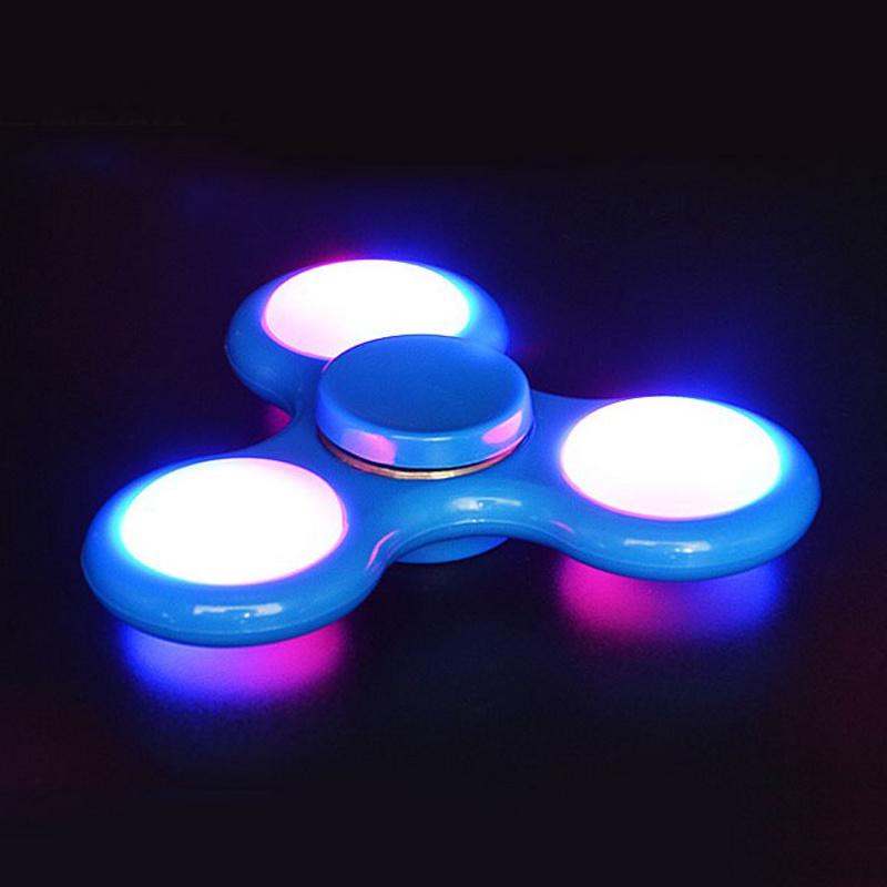 LED Light Style Finger Fidget Spinner Plastic Hand Spinner Anxiety Stress Gift Toy