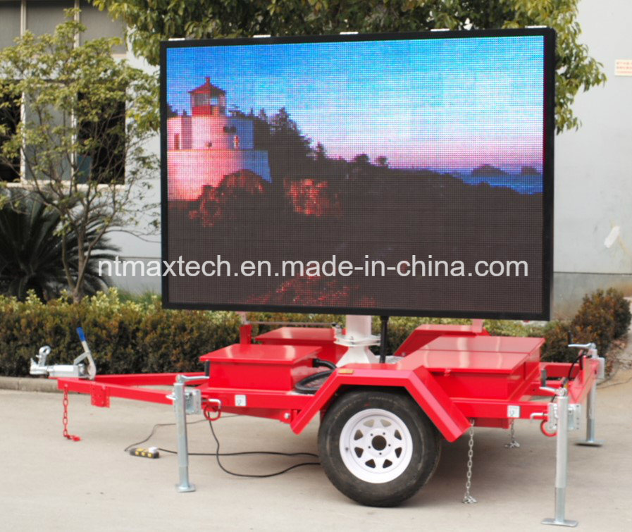 Trailer Mount Full Colour Display Sign for Advertising and Traffic Management