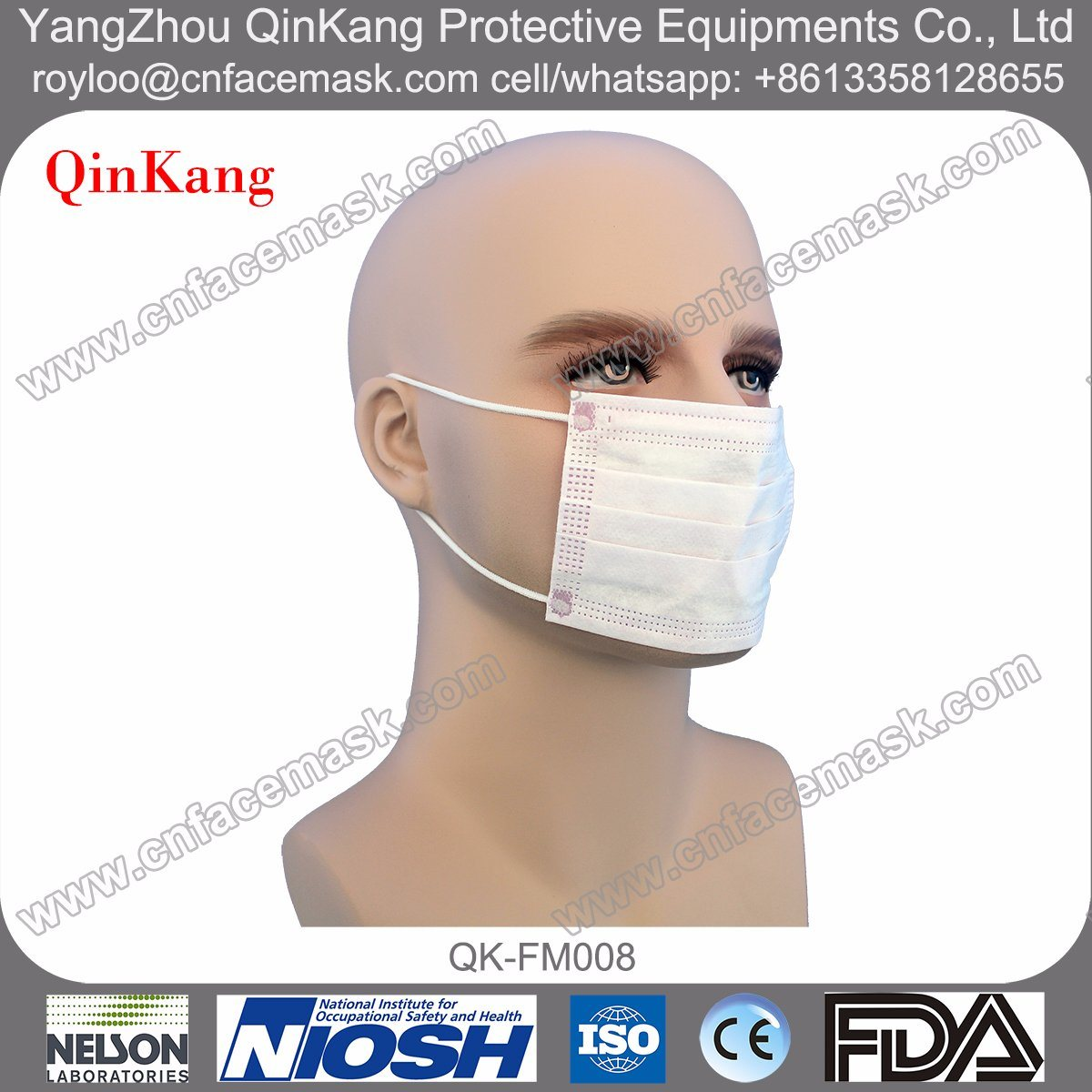Disposable Non-Woven Medical Earloop Face Mask for Children