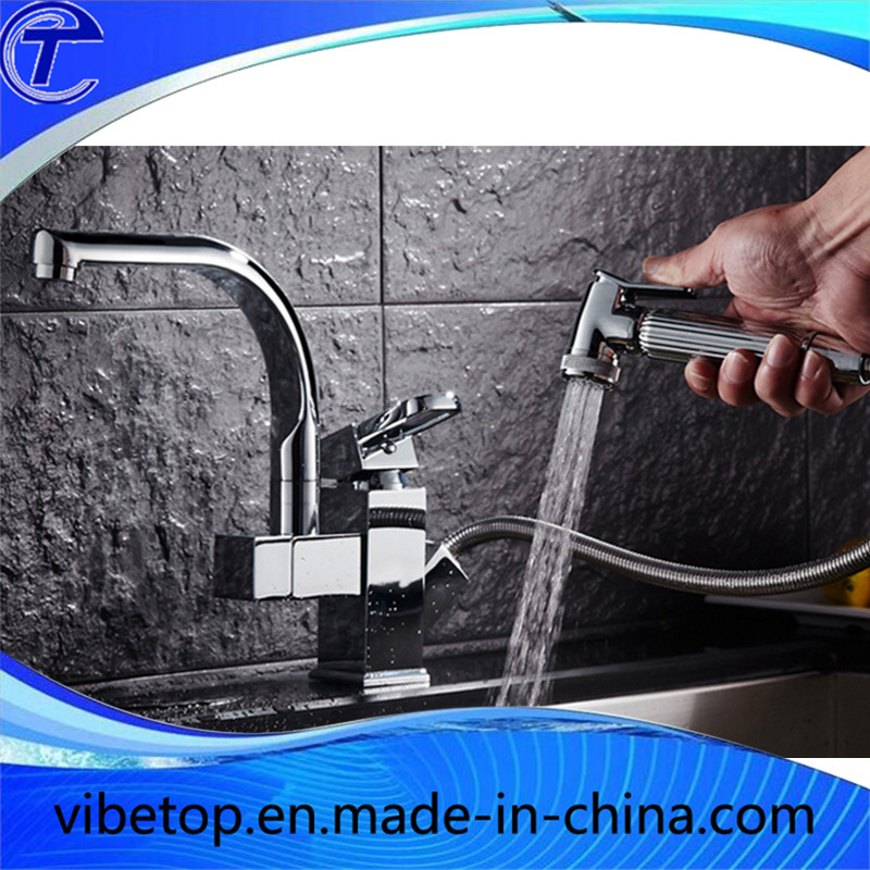 Cheapest Price Fashion Pull Water Faucets/Taps/Mixer Best Sale