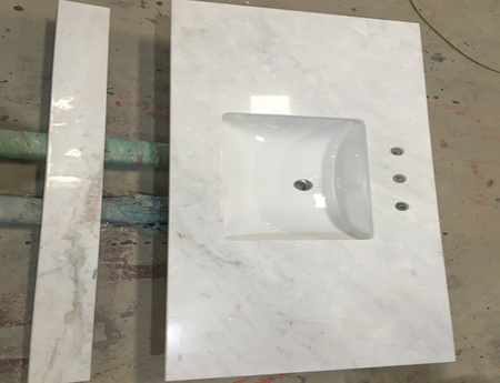 Hot Sale White Marble Kitchen Countertop Outlet